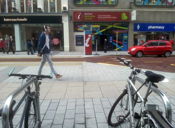 Belfast city centre bike racks