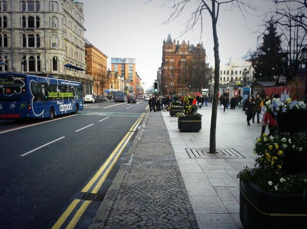 Decorative cobble lane, Belfast City Hall