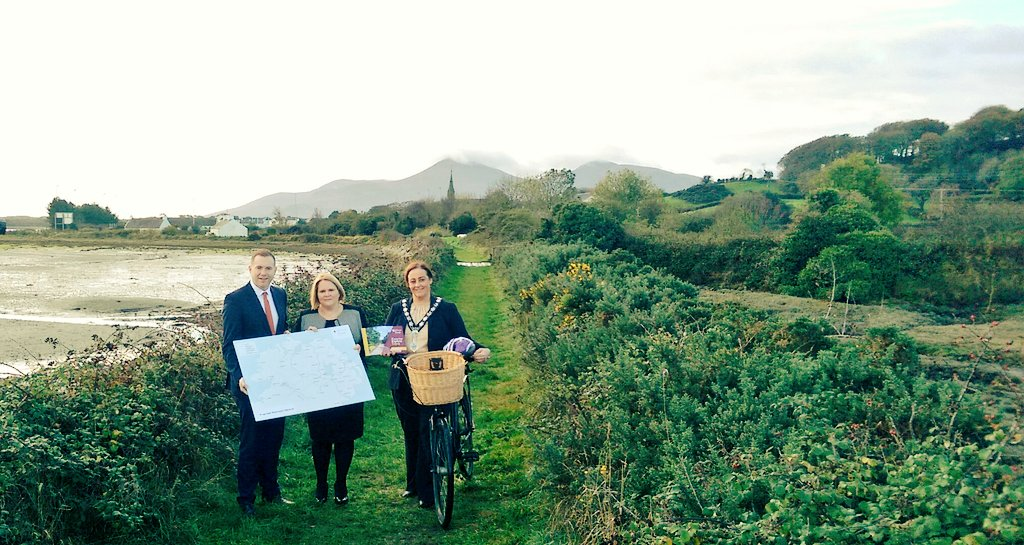 Minister Chris Hazzard launched the Greenway Strategy