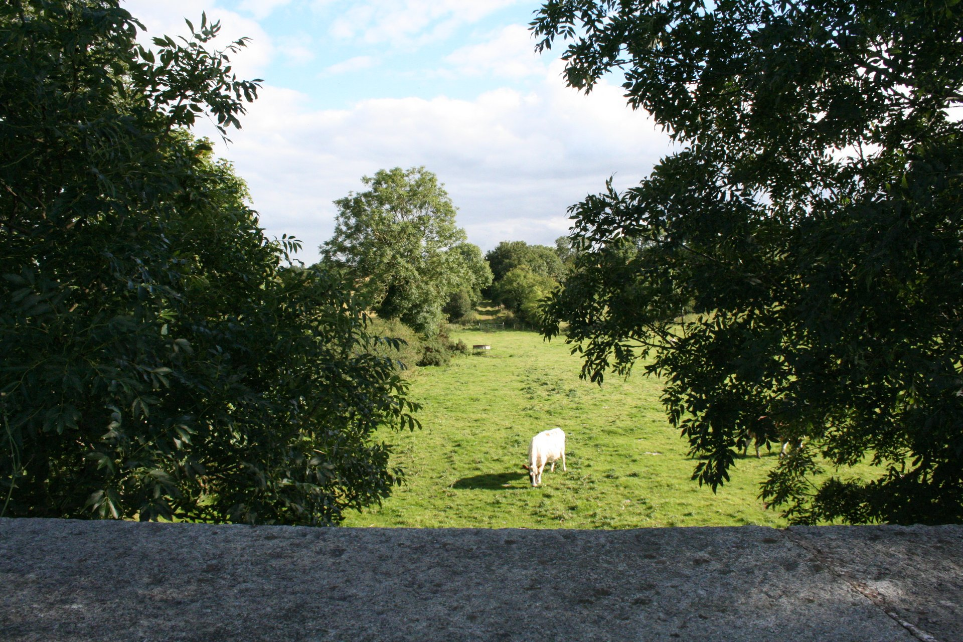 View from railway bridge at Church Hill Road