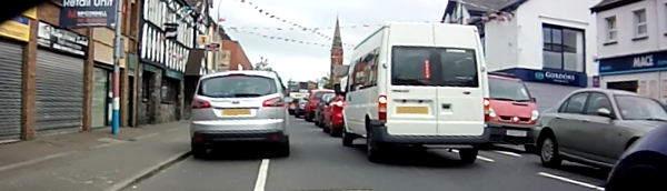 Blocked cycle lane